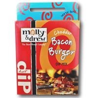 Molly & Drew Cheddar  Bacon Burger Hot Dip Mix