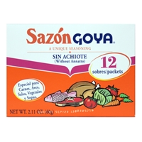 Goya Sazon Sin Achiote Without Annatto